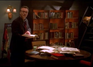 Giles Researching