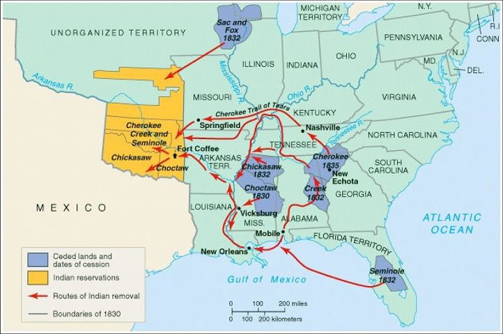 Indian Removal Map